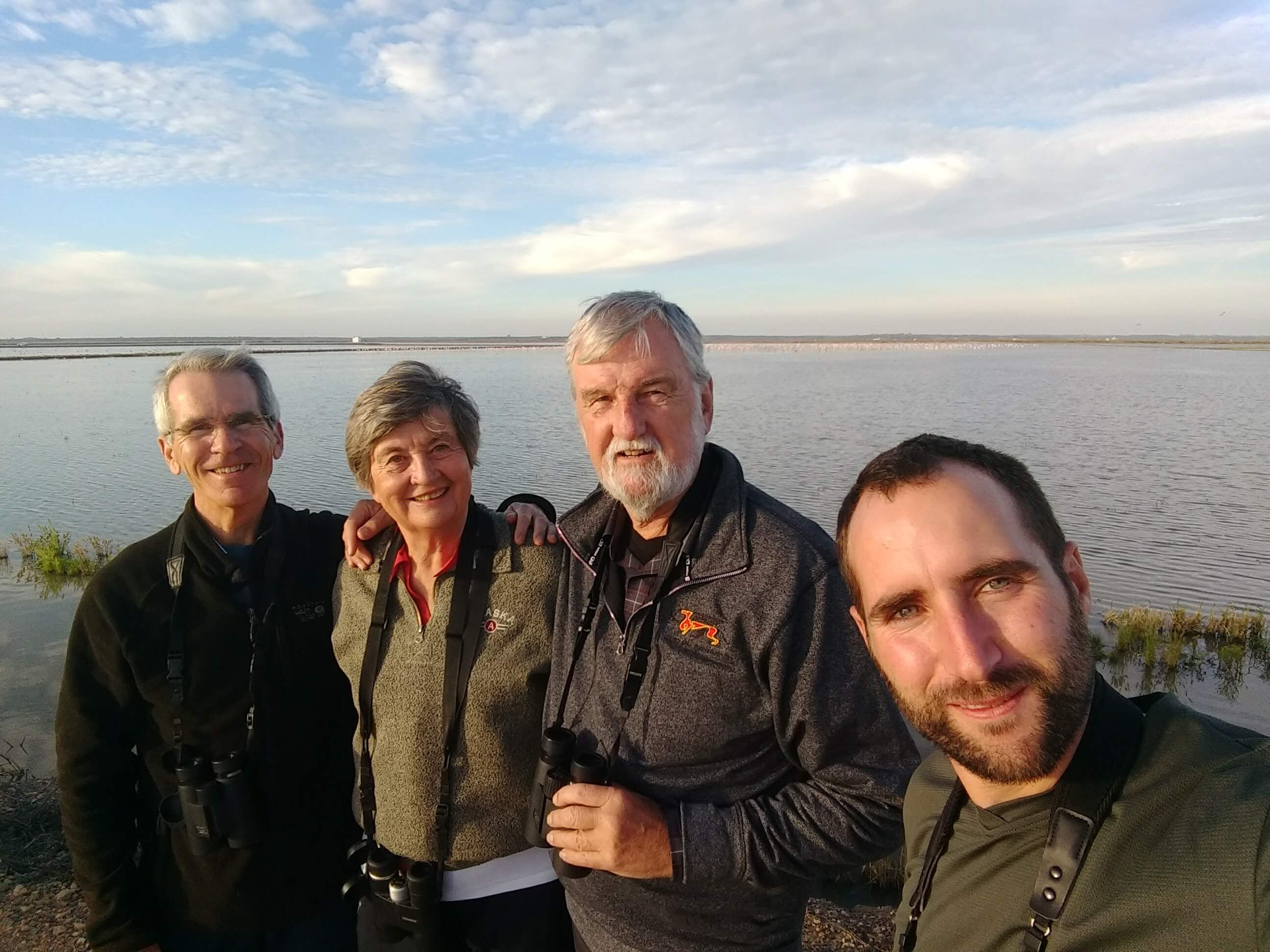 Richard, Paul, Cathy (Canada) and Vicent, Doñana