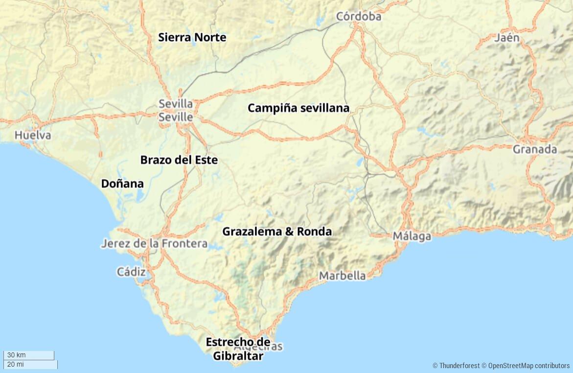 mapa excursiones